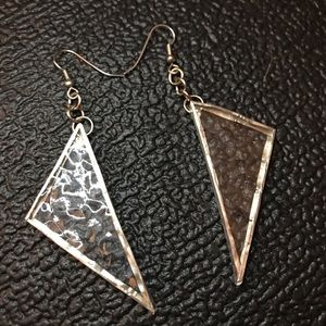 Trixy Xchange Recycled Stained Glass Earrings